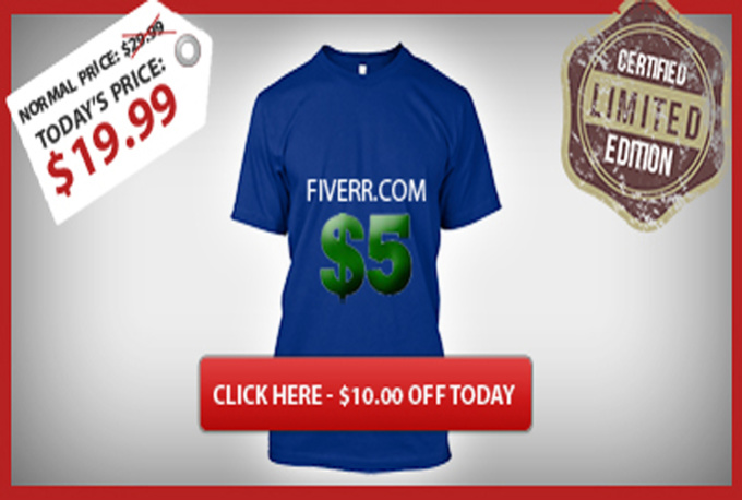 Create a facebook ad banner for your teespring campaign for T shirt ads on facebook