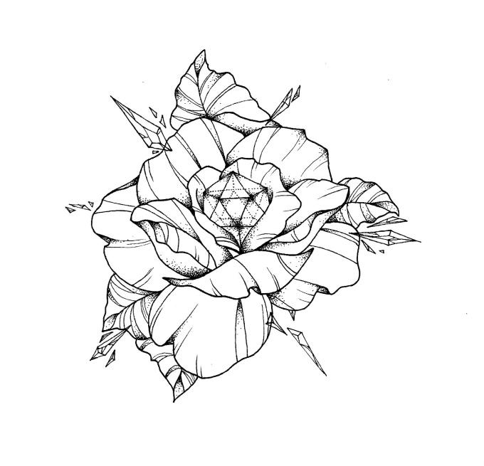 design your tattoo outline fiverr. Black Bedroom Furniture Sets. Home Design Ideas