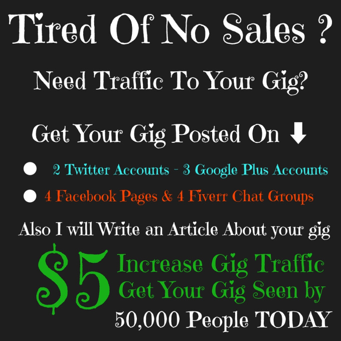 how to sell traffic on fiverr