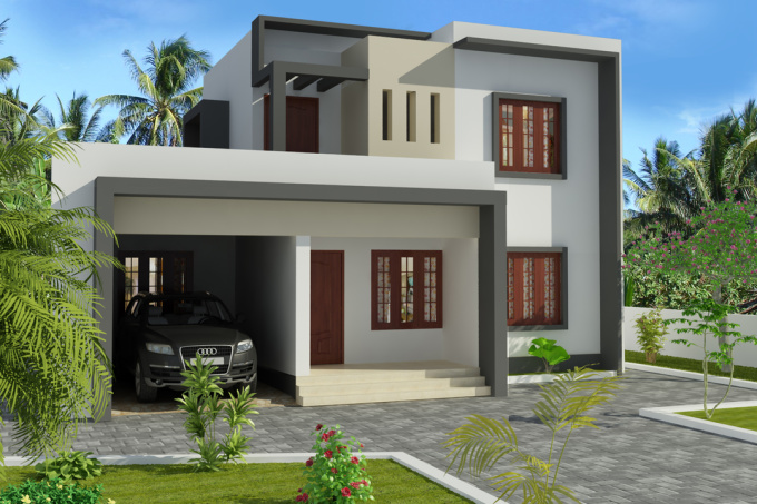 3d Home Front Elevation Software : D max front elevation joy studio design gallery best