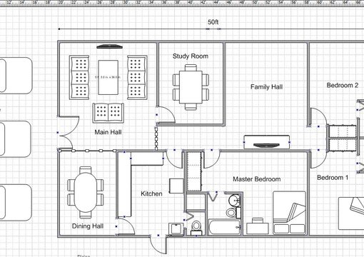 Draw a simple floor plan for your dream house for Easy floor plan drawing