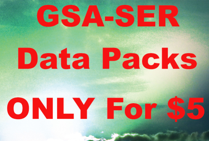 create gsa SER Data Packs