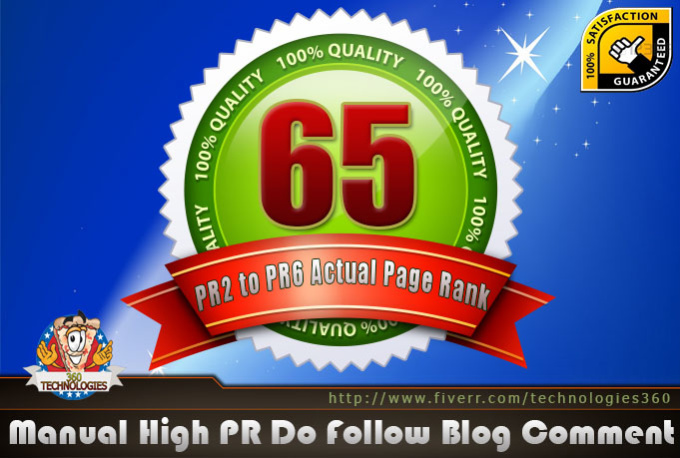 make 65 Manual Blog Comment on Actual PR 6 To 2
