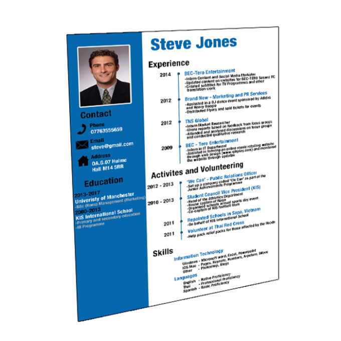 design an eye catching cv or resume within 24hrs