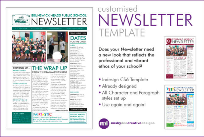 Customise a newsletter template in indesign for Indesign newsletter templates