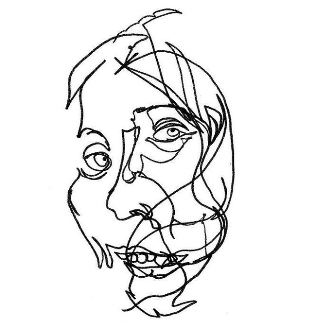 Blind Line Drawing Artists : Draw a blind contour portrait from any photo