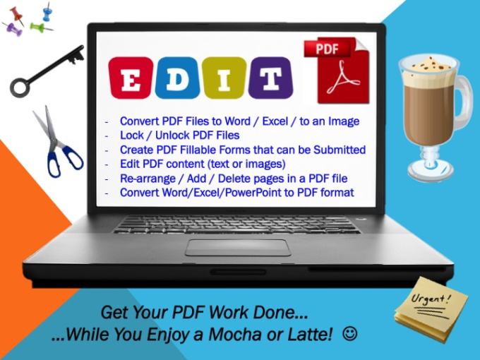how to edit a secured pdf document