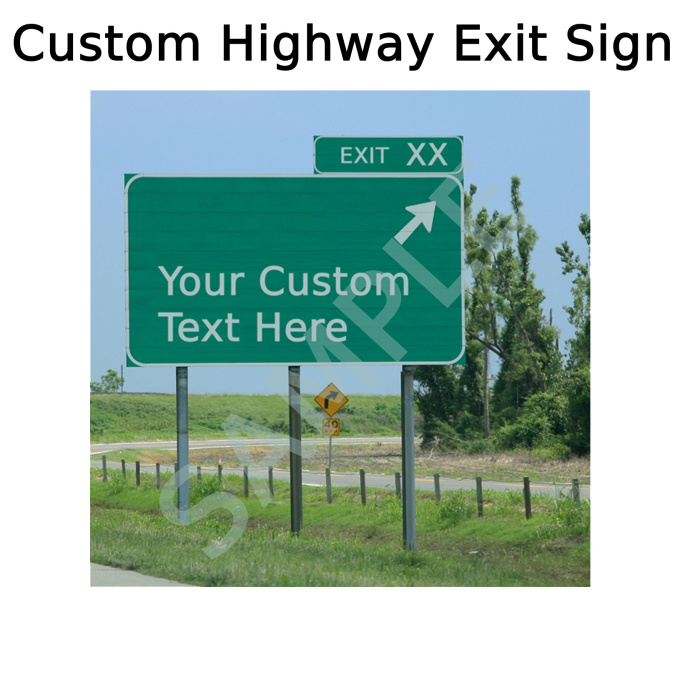Highway Exit Sign Template Highway Exit Si...