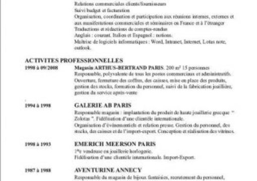 review your french resume  cv