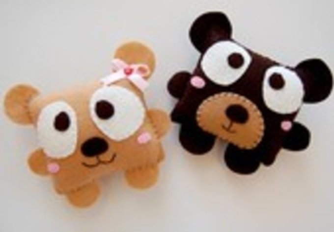 send you two cute felt critters