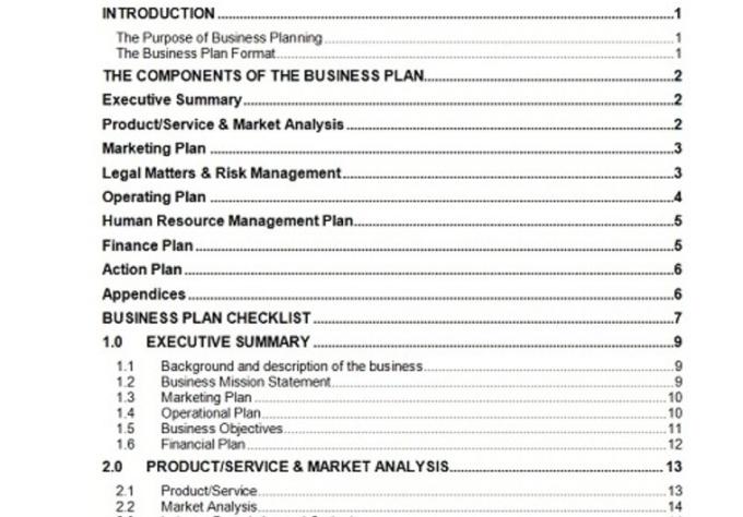 Business plan budget template