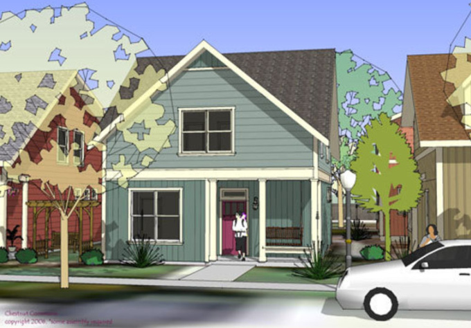 sketchup how to make a house