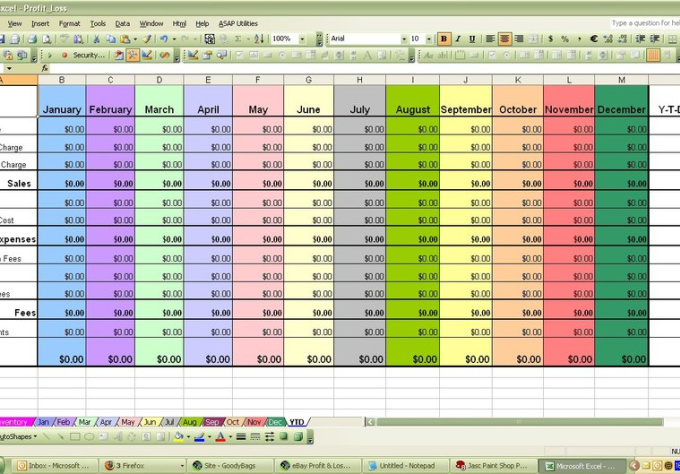 expense sheet for business