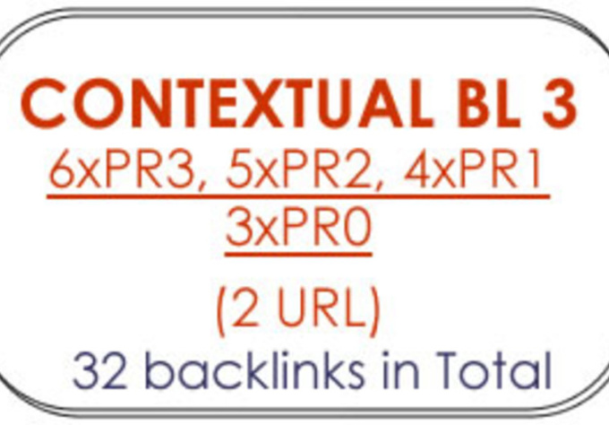 create 28 CONTEXTUAL Backlinks from 14 Blogs with 5x PR3, 4x PR2, 3x PR1, 2x PR0