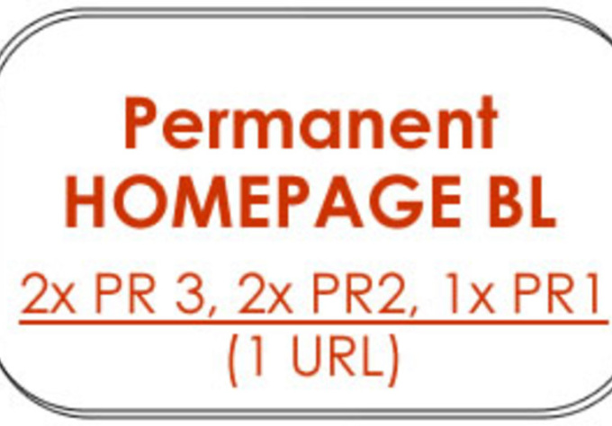 give you 5 X Permanent HOMEPAGE Backlinks from 2x PR3, 2x PR2, 1x PR1 blogs