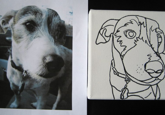 Contour Line Drawing Dog : Draw a contour line drawing of your dogs face