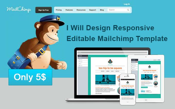 design attractive editable mailchimp template. Black Bedroom Furniture Sets. Home Design Ideas
