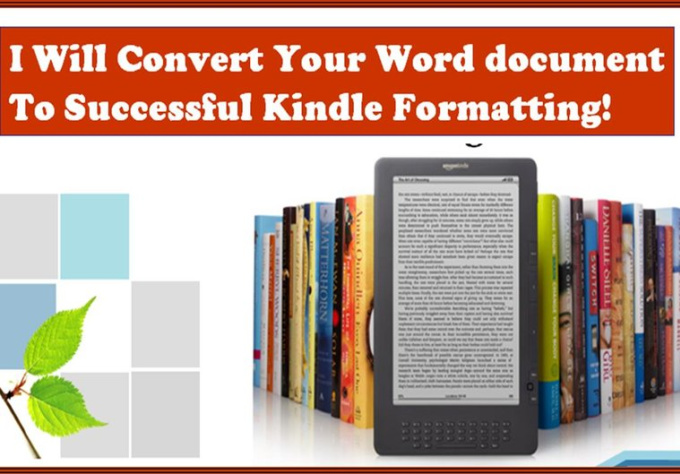 convert pdf to kindle book