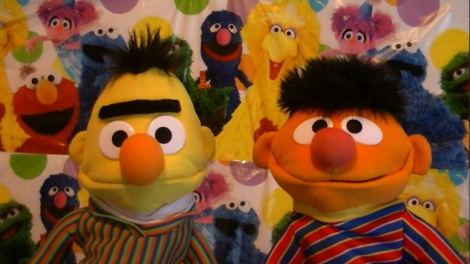 get Ernie and Bert to sing happy birthday