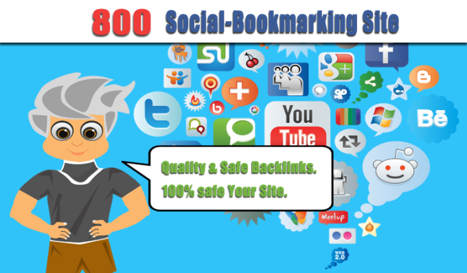 add Your site to 800 SEO social bookmarks backlinks and ping