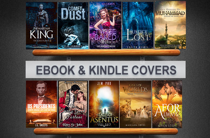 Kindle Book Cover Design : Make creative ebook cover or kindle with bann