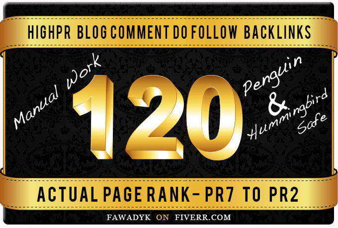 build 120 Dofollow Blog Comment Backlinks Pr7 to 2
