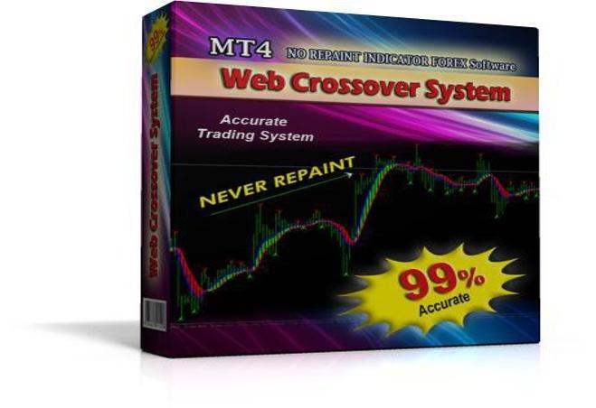 Web crossover indicator trading system