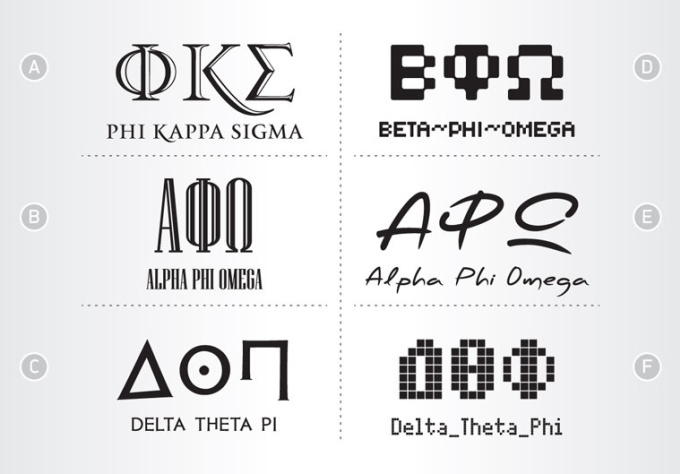Design greek letters for your sorority or fraternit for Greek letters paddles store