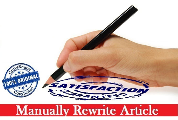 Rewrite article pass copyscape jobs