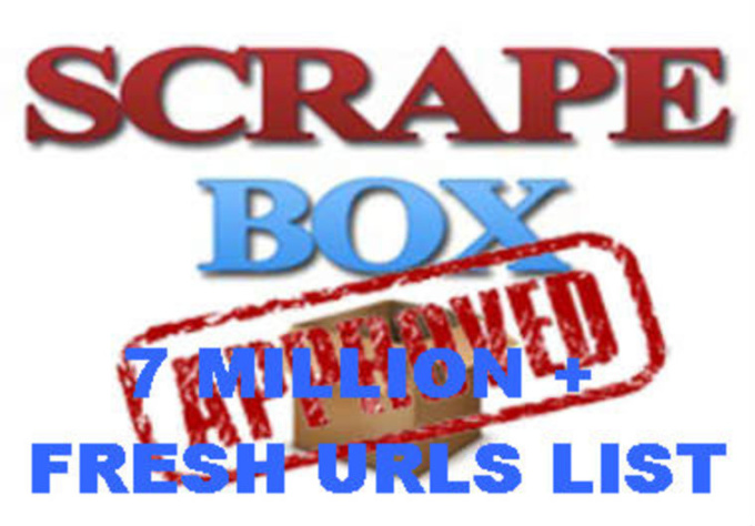 give you My FRESH 2012 ScrapeBox List of Over 7 Millions WordPress, Movable Types, Blog Engine Fresh Urls Link with Great Successful Rate