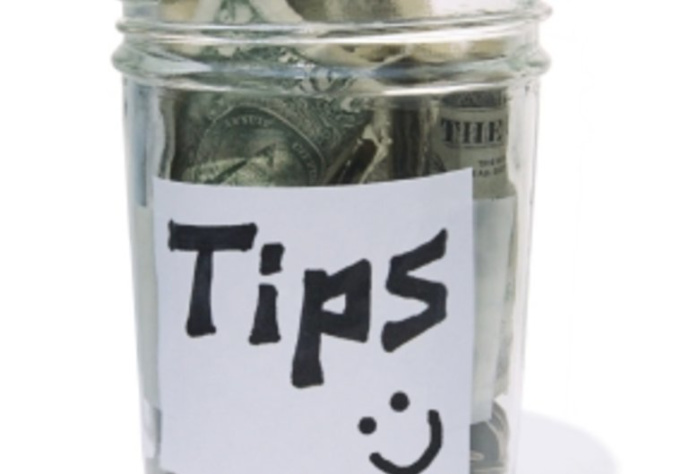accept a tip and save it for my studies in USA