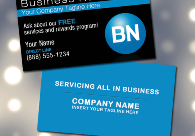 design a custom and print ready double sided business card