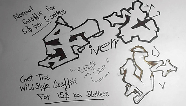 draw graffiti in 720p HD exclusively on fiverr