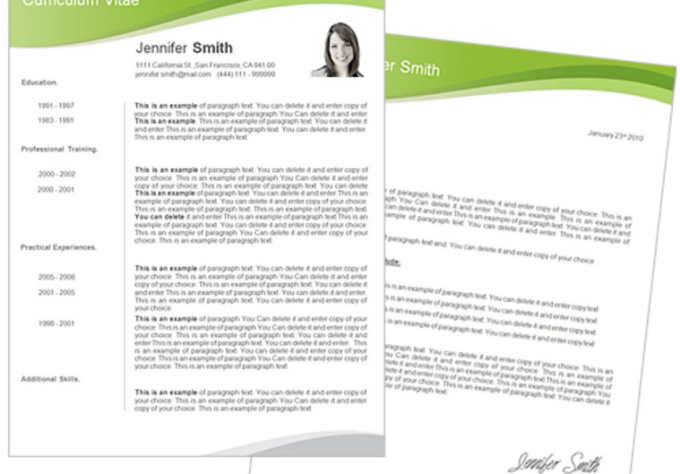 send you on amazing cv template 70 fiverr