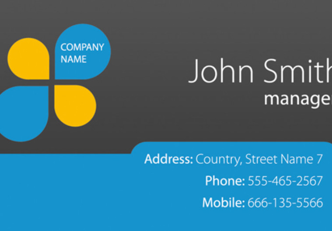 compose a professionally business card