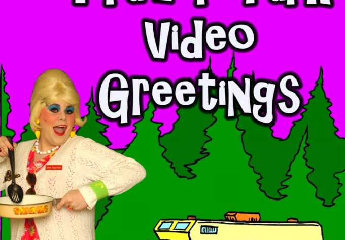 make a Video Greeting Or Birthday Wish Direct From The Trailer Park