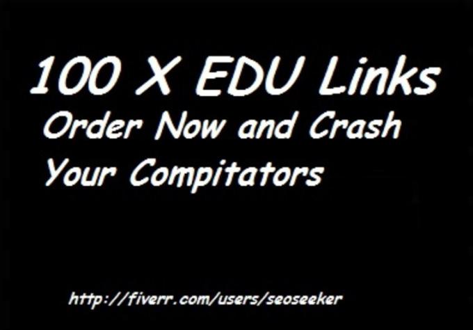 build Google Panda and Penguin Friendly Quality 100 x edu backlinks