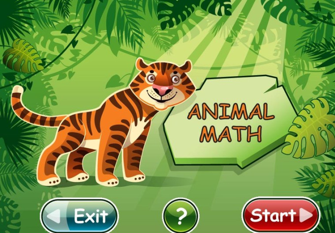 create a great Math Game for children, which will speak to your child using his own name