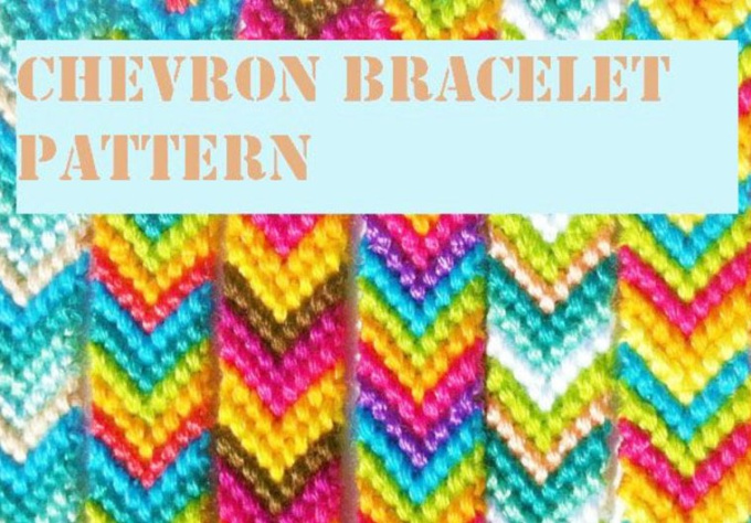 Send you pattern tutorial chevron friendship bracel for How to make a chevron template