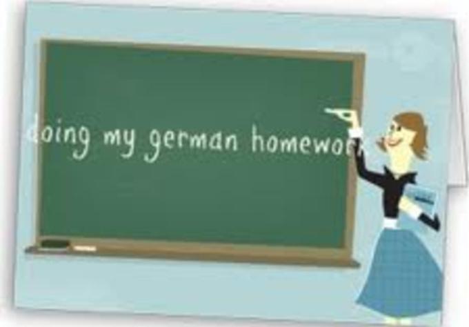 German homework help