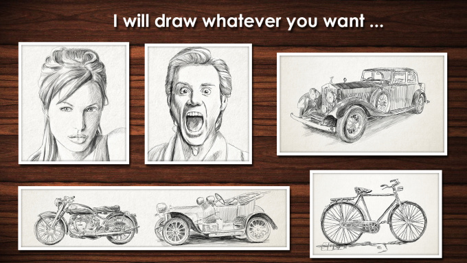 get from your photo realistic drawing with pencil