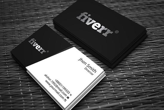 Do unique business card fiverr for Fiverr business cards