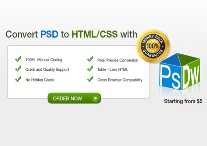 do psd to html and Responsive