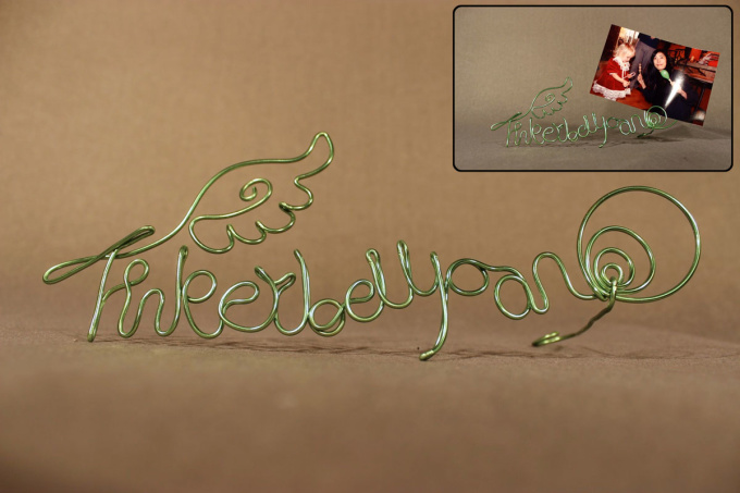 create your logo, message, or name with wire art