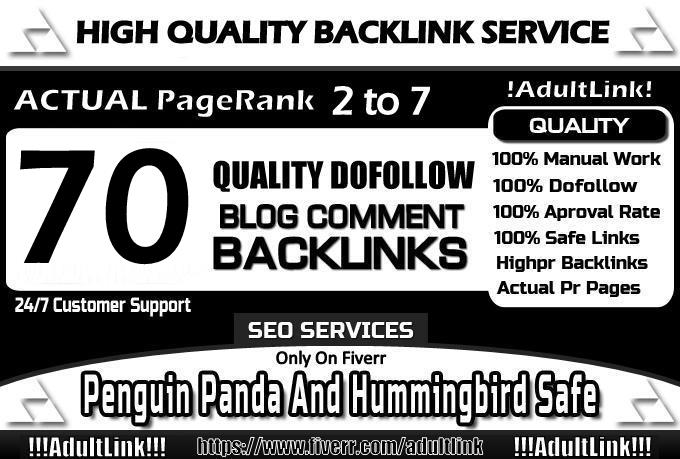 make MANUAL 70 Dofollow Blog Comment Actual Pr7 to 2