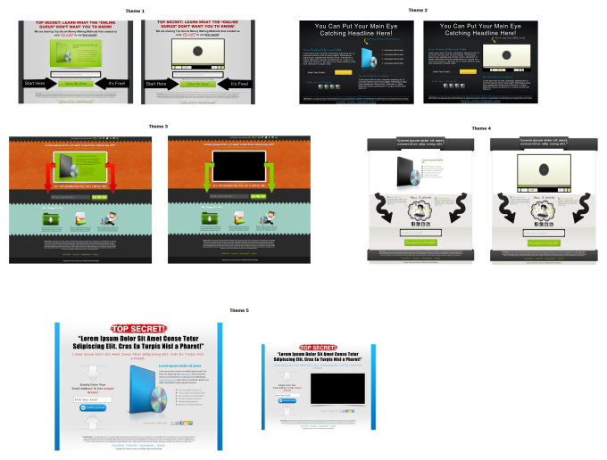 create an amazing Landing Page template