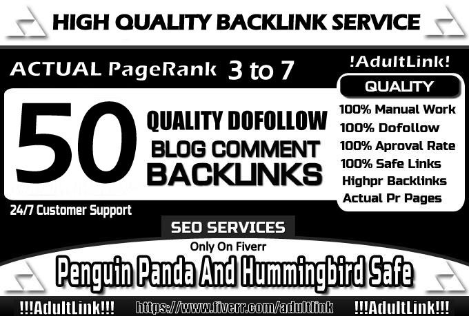 do 50 Manual DoFollow Blog Comment Actual Page Rank 3 Up To 7 With Unique Links