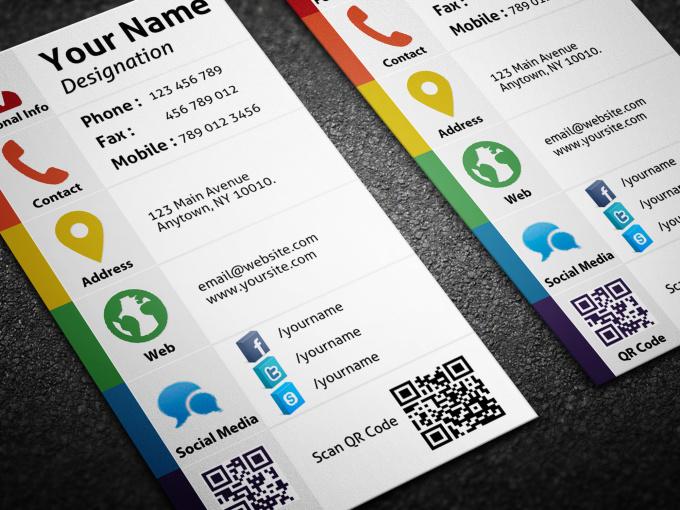 design Personal Social Media Business Card fiverr