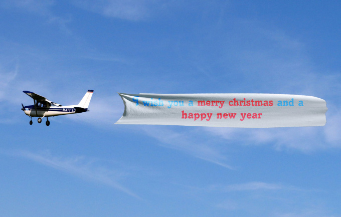 Create a plane banner with your message fiverr for Design a plane online