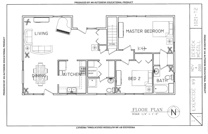 create a home plan in autocad and make it 3d